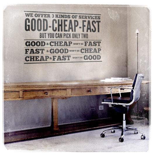 Хорошо, дешево и быстро (Good, Cheap, Fast)